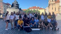Studierende des Studiengangs International Relations and Management (Fakultät AM) der OTH Regensburg nahmen an einem Workshop über Design Strategy teil, der im Juni 2019 in Prag stattfand.