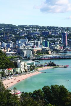Oriental Bay in  Wellington, Neuseeland. Fotos: WelTec