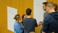 "Studierende beim Workshop rund um das Thema ""Business Model Canvas""."