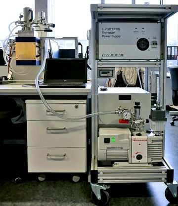 Thermal conductivity test rig
