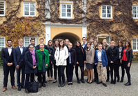 "Studierende des Bachelorstudienganges ""European Business"" in Tutzing."